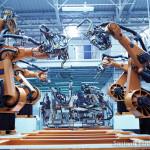 Robôs que realizam as soldas